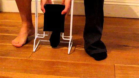 sock aid demonstration compression aid
