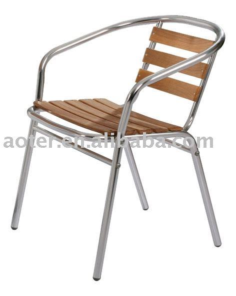 aluminium bois bistro chaise caf 233 chaise chaise de