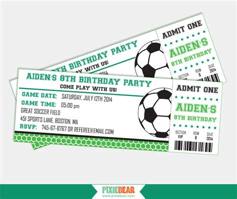 printable soccer invitation templates soccer party invitation soccer birthday invitation soccer