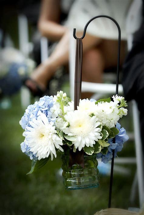 Outdoor wedding aisle decorations