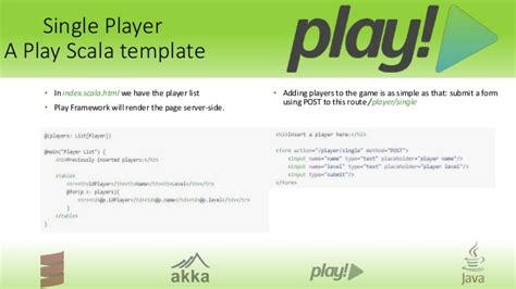 play scala template how to play at work a play framework tutorial