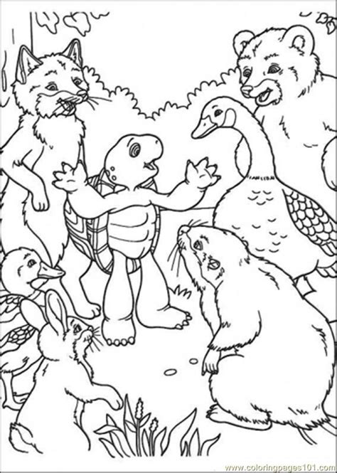 franklin turtle coloring pages coloring home