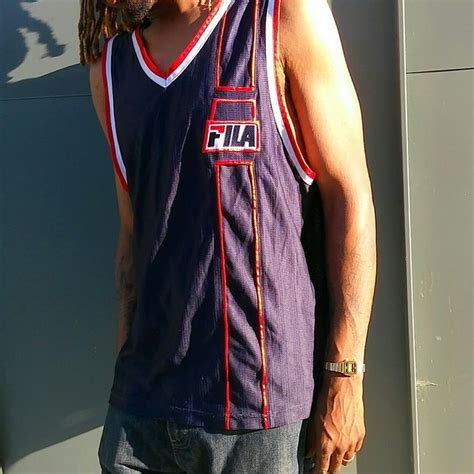 Fila Semplice 6 Mens vintage fila tank top jersey navy team williams depop