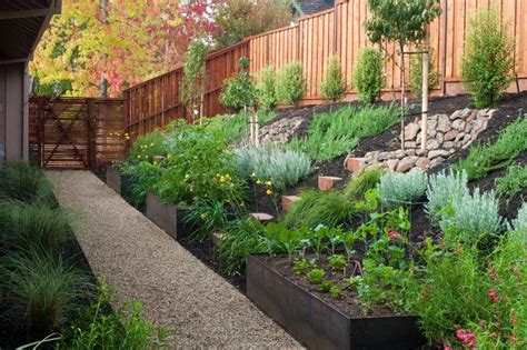 sloping backyard ideas how to turn a steep backyard into a terraced garden