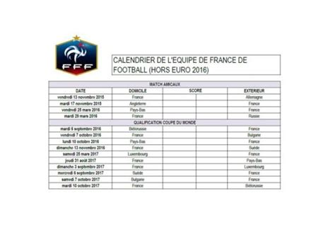 Calendrier 4 Nations 2016 T 233 L 233 Charger Calendrier De L 233 Quipe De De Football