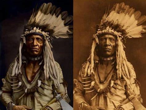 imagenes del indio rojas coloreadas viejas fotos de los nativos americanos