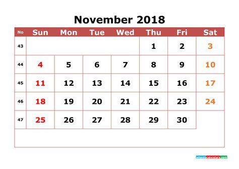 november  calendar printable  week numbers image  printable  monthly calendar