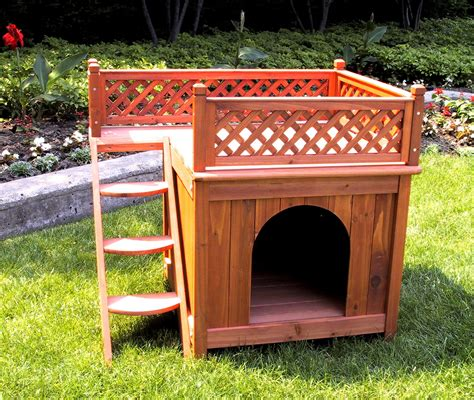 dog cat house merry products room with a view wood dog cat house chewy com