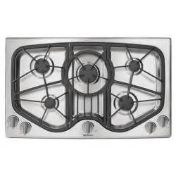 Jenn Air Gas Cooktops Jenn Air 36 Inch 5 Burner Stainless Steel Gas Cooktop