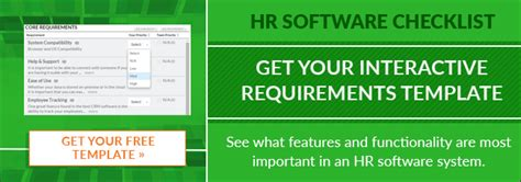 The Definitive Hr Software Systems Requirements Features List Hris Requirements Template