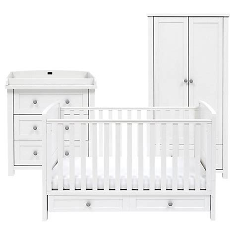 White And Silver Dresser by Buy Silver Cross Nostalgia Cotbed Dresser And Wardrobe