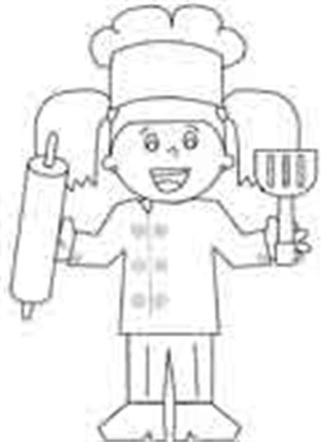 baker coloring pages preschool baker coloring pages