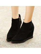european style toe rubber sole wedge boots