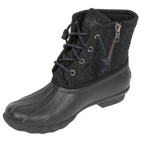 black duck boots sperry women s saltwater rope embossed duck boots west