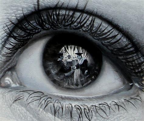 wallpaper graffiti terbagus photorealistic paintings of scenes reflected in eyes by