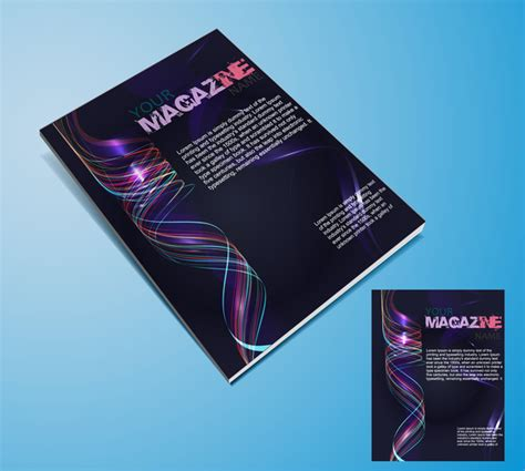 magazine layout template illustrator magazine cover templates free vector in adobe illustrator
