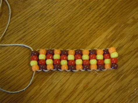 bead crafts pony bead napkin ring for thanksgiving
