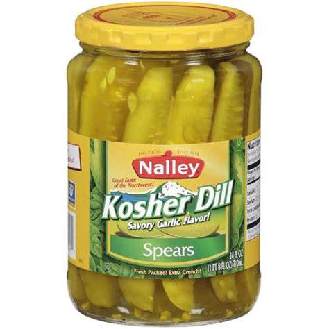 kosher pickles nalley kosher dill pickles 24 fl oz condiments sauces