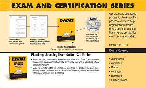 Plumbing Certification by Dewalt Plumbing Licensing Guide Dewalt Series American Contractors Services