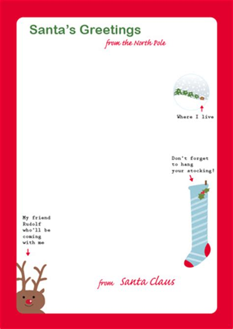 free letter from santa template printable letter from santa mr printables