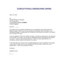 Resignation Letter Exle by 29 Free Professional Letter Of Resignation Sles And Templates Vntask