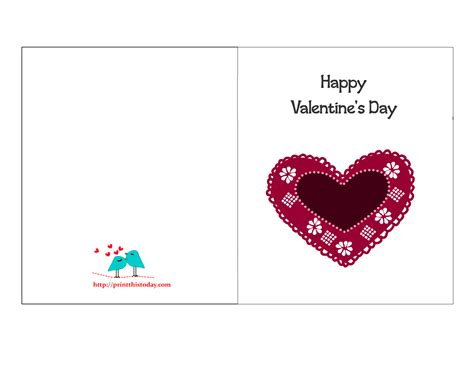 happy valentines day printable free printable s cards