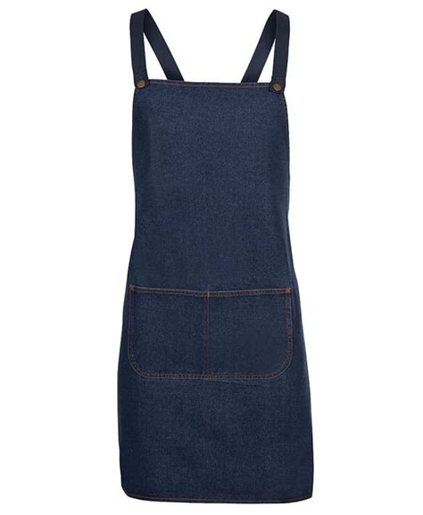 Aprons Direct - denim cross back aprons aprons direct branded aprons