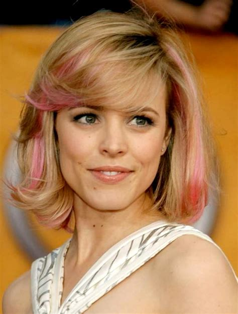 pink streaks in hair hairstyle advice for curly on the bottom and straight on