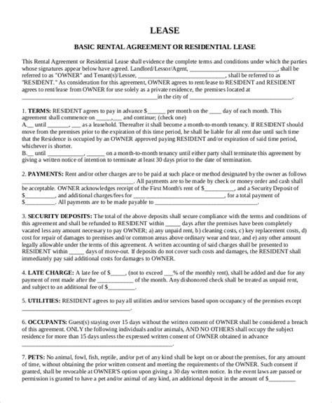 best month to sign a lease sle rental lease form 10 free documents in word pdf