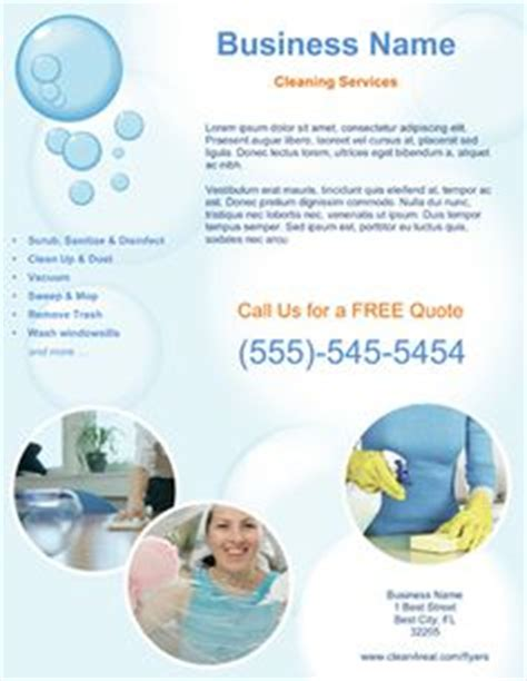 cleaning brochure templates free promote your cleaning company with this house cleaning