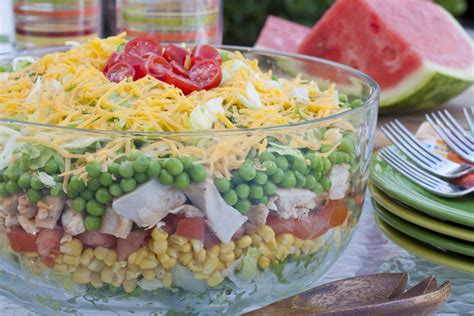 easy dishes for potlucks rainbow stacked salad mrfood
