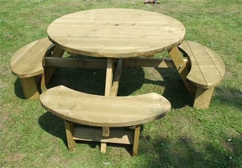 round garden bench pub picnic benches round tables excalibur round picnic
