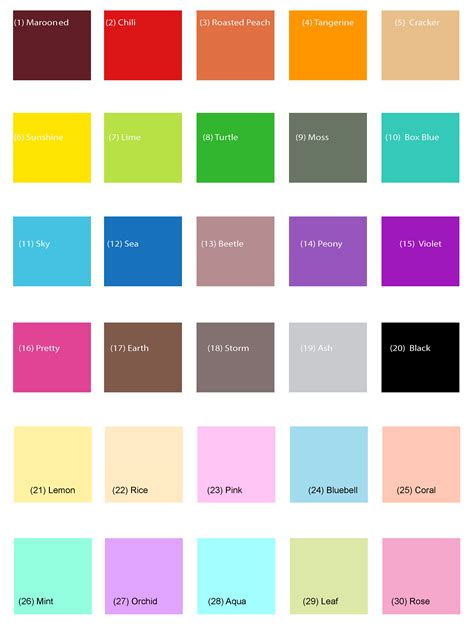 pretty color names kemon color chart pictures to pin on pinsdaddy