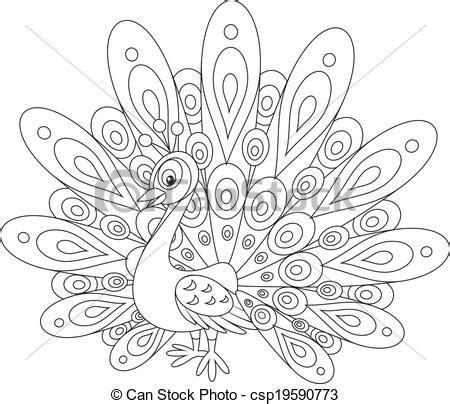 imajenes de dibujo de pavo real para bordar ilustraciones vectoriales de pavo real peafowl con un