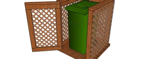 Trash can enclosure plans   HowToSpecialist   How to Build