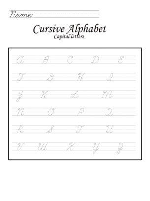cursive capital letters number names worksheets 187 capital letters to print free 1170