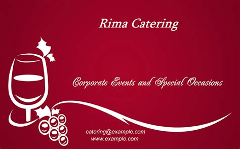 catering card template catering business cards templates print