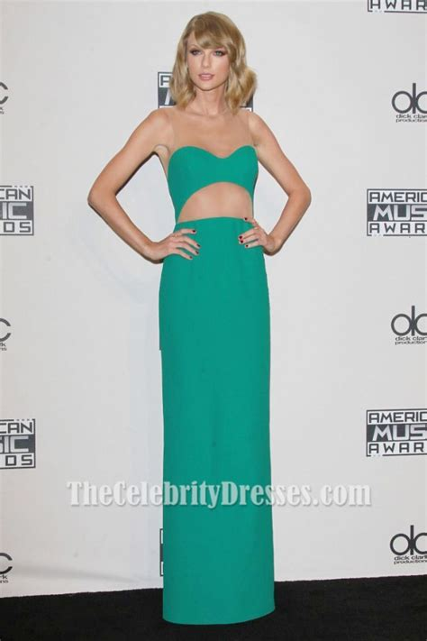 taylor swift evening dress taylor swift green evening dress 2014 american music