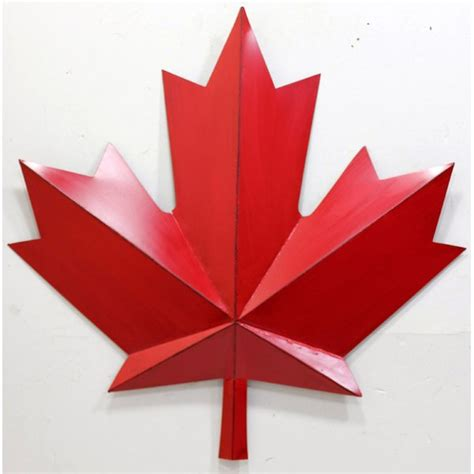 Winston Porter Metal Red Maple Leaf Wall Decor & Reviews