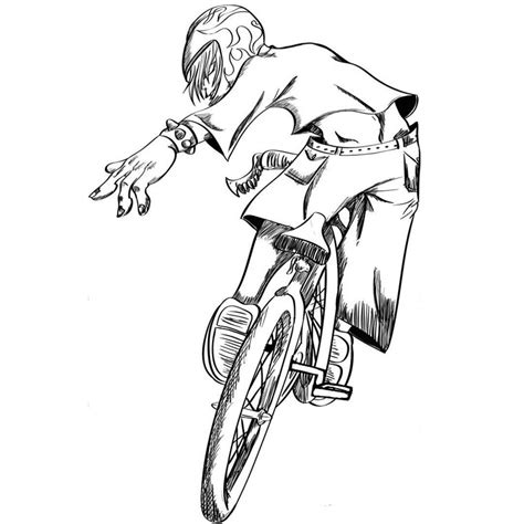 Bmx Racing Coloring Page Screenfonds Bmx Colouring Pages