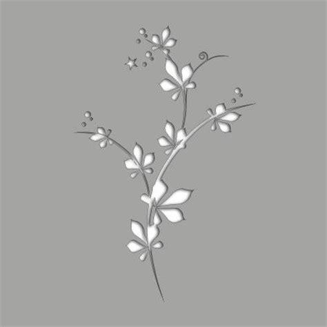 pochoir adhesif fleur  stickers malin