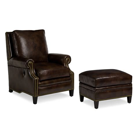 Hancock And Moore 2012 Anderson Tilt Back Chair Ottoman
