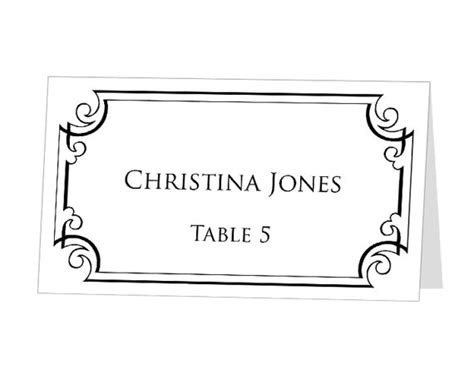 microsoft word place card template items similar to instant print at home place