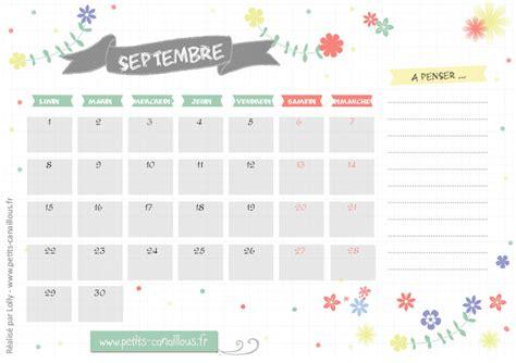 Calendrier Canva Calendriers Mensuels Septembre 2014 224 Imprimer