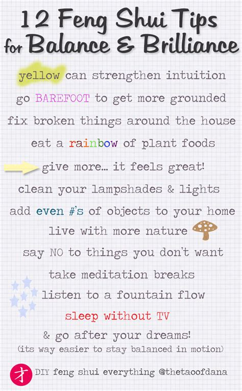 feng shui tip if you are going to paint why not use 12 feng shui tips for a balanced life the tao of dana