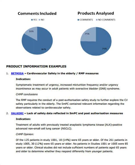 product analysis report sle sle product analysis report 8 exles in pdf word