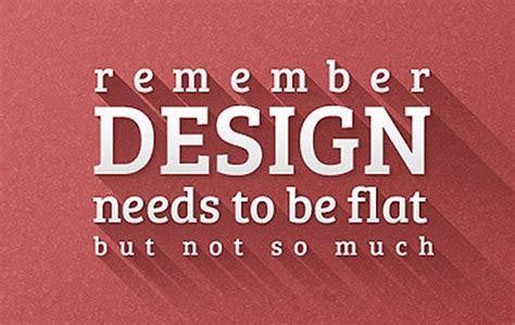 font design flat long shadow is the new flat design