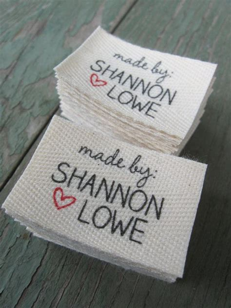 Handmade By Labels Personalised - 25 best ideas about fabric labels on printer