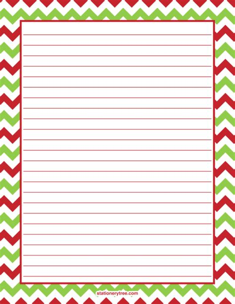 printable christmas stationery printable christmas chevron stationery and writing paper