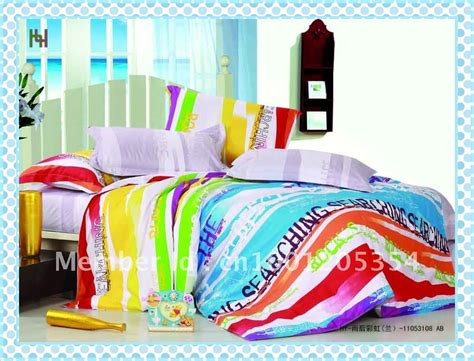rainbow comforter ds025 discount 100 cotton rainbow color bed comforter